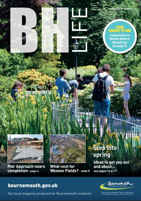 Bournemouth Council's BH Life Magazine