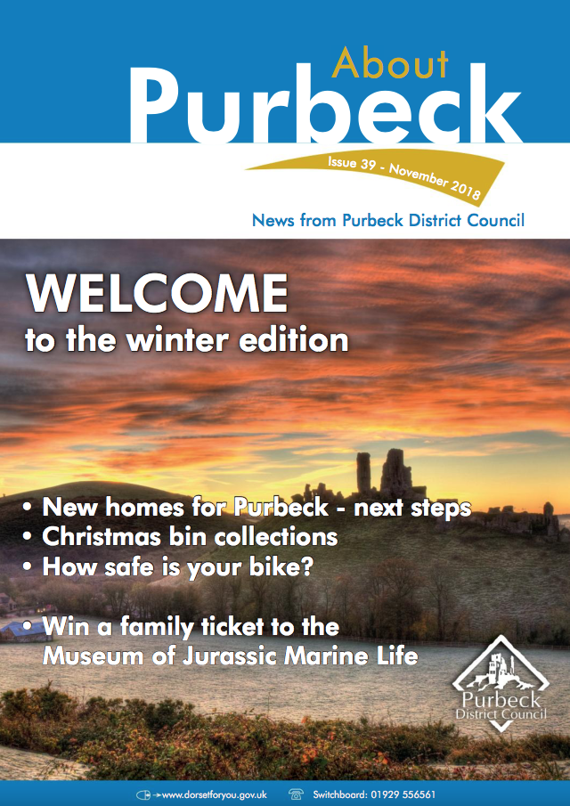 Purbeck District Council and IMS Group present About Purbeck magazine