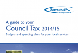 Council tax booklet advertising